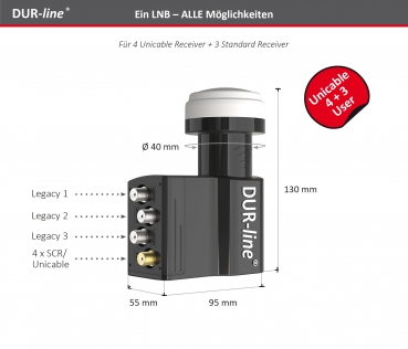 DUR-line UK 104 - Unicable LNB