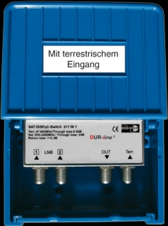 Dur Line DiSEqC - SchalterType 3 IN/1 OUT