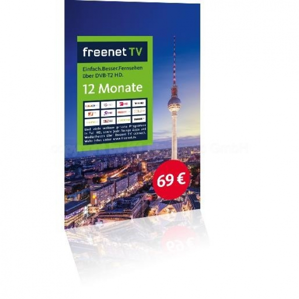 freenet TV-Voucher 12 Monate Guthabenkarte